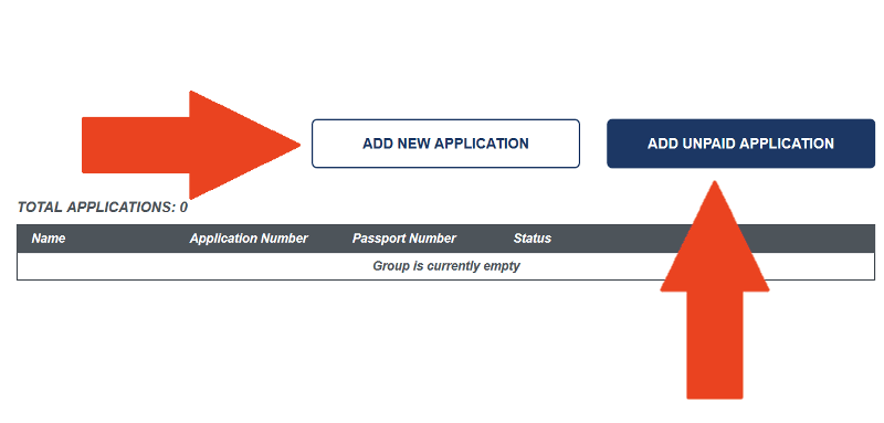 sixth step of creating an ESTA application group