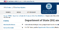 Thumbnail of the website of citizenship and immigration service of the United States of America